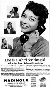 Nadinola Bleaching Cream Ad - Ebony Magazine 1960
